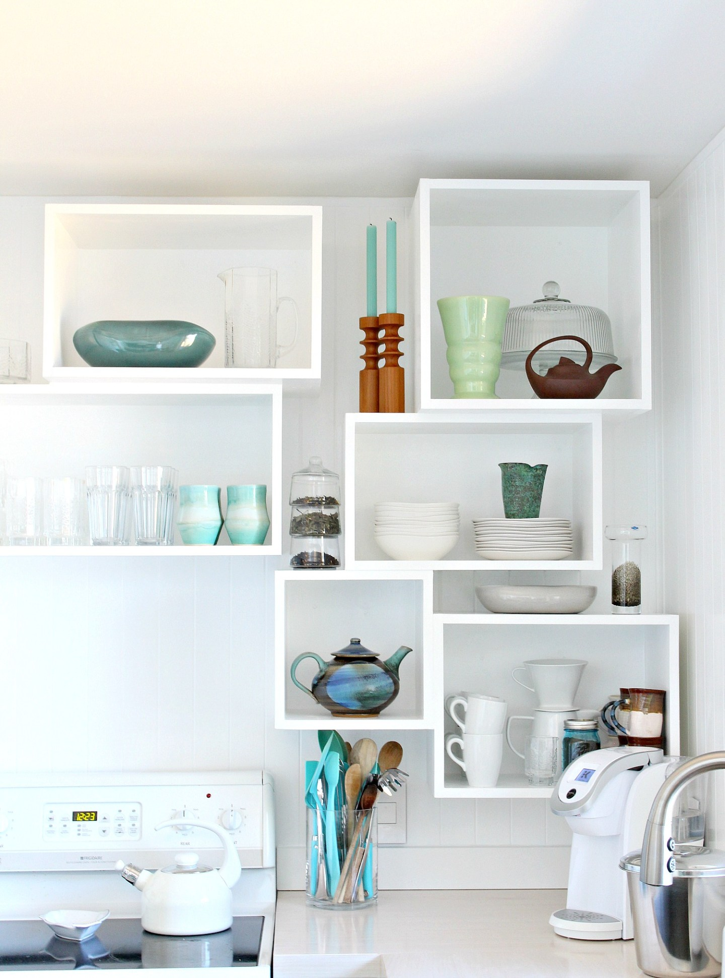 How to Build Wall Cubbies   Fresh Take on Kitchen Open Shelving. Learn How to Build DIY Wall Cubbies for Extra Storage! #diystorage #diyproject #diykitchen