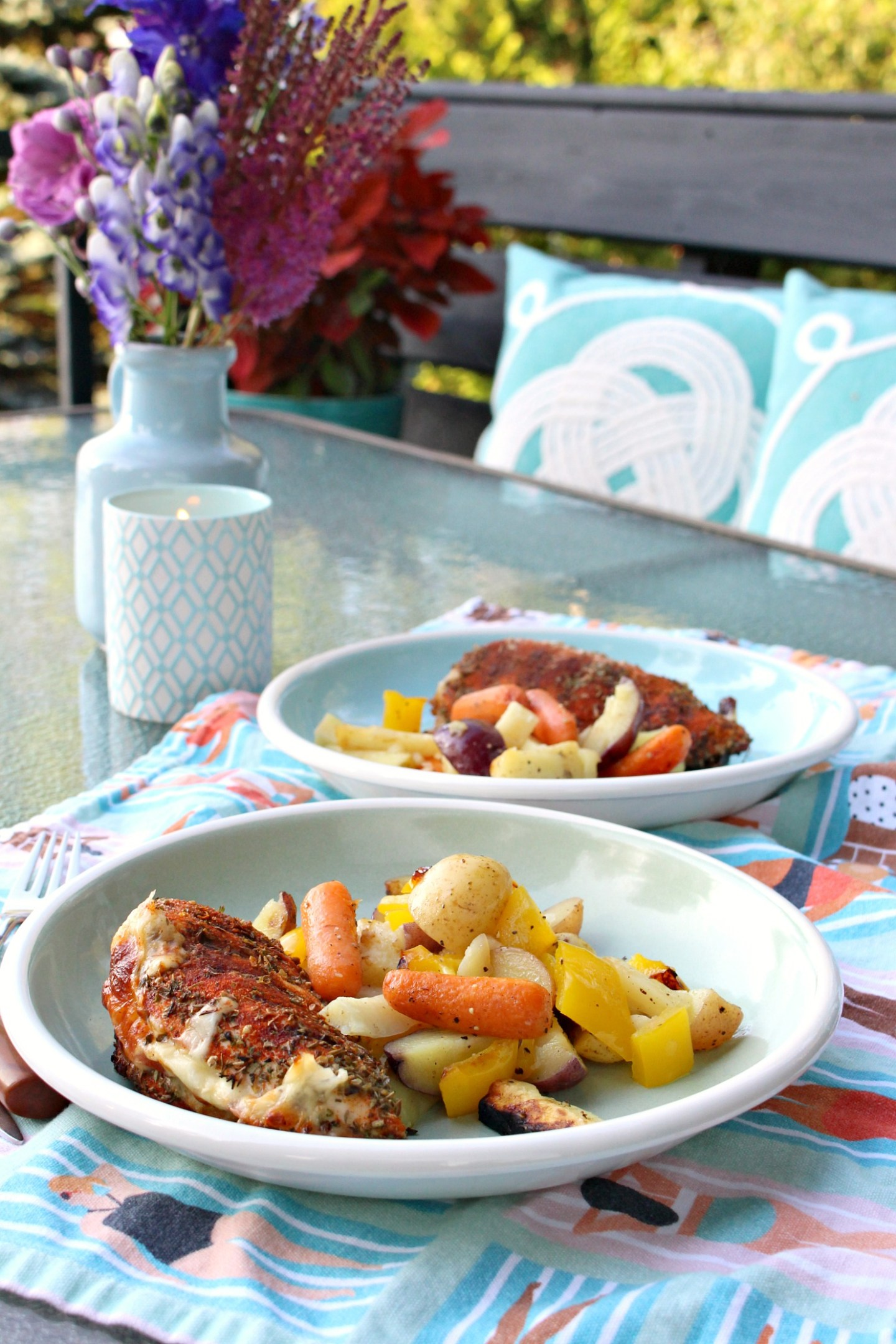 Cheese Stuffed Grilled Chicken Breast Recipe + Blue Portable Gas Grill (Sponsored by We Love Fire)