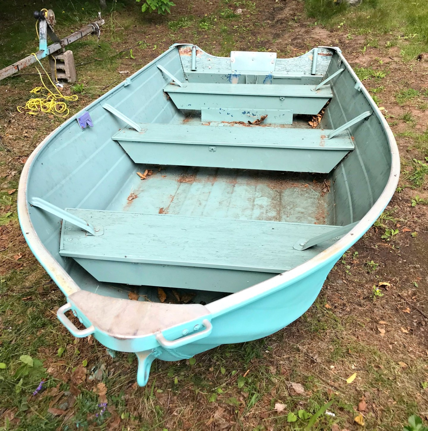 I Spray Painted an Aluminum Boat! Turquoise Boat Makeover. Tips for Painting Metal. (Sponsored by Rust-Oleum)