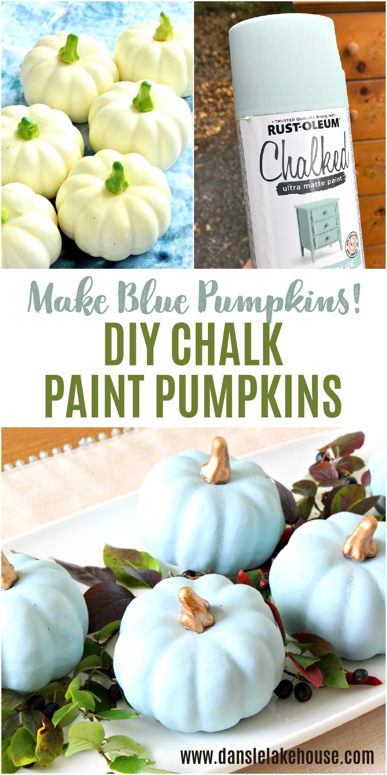 Make Your Own Blue Pumpkins