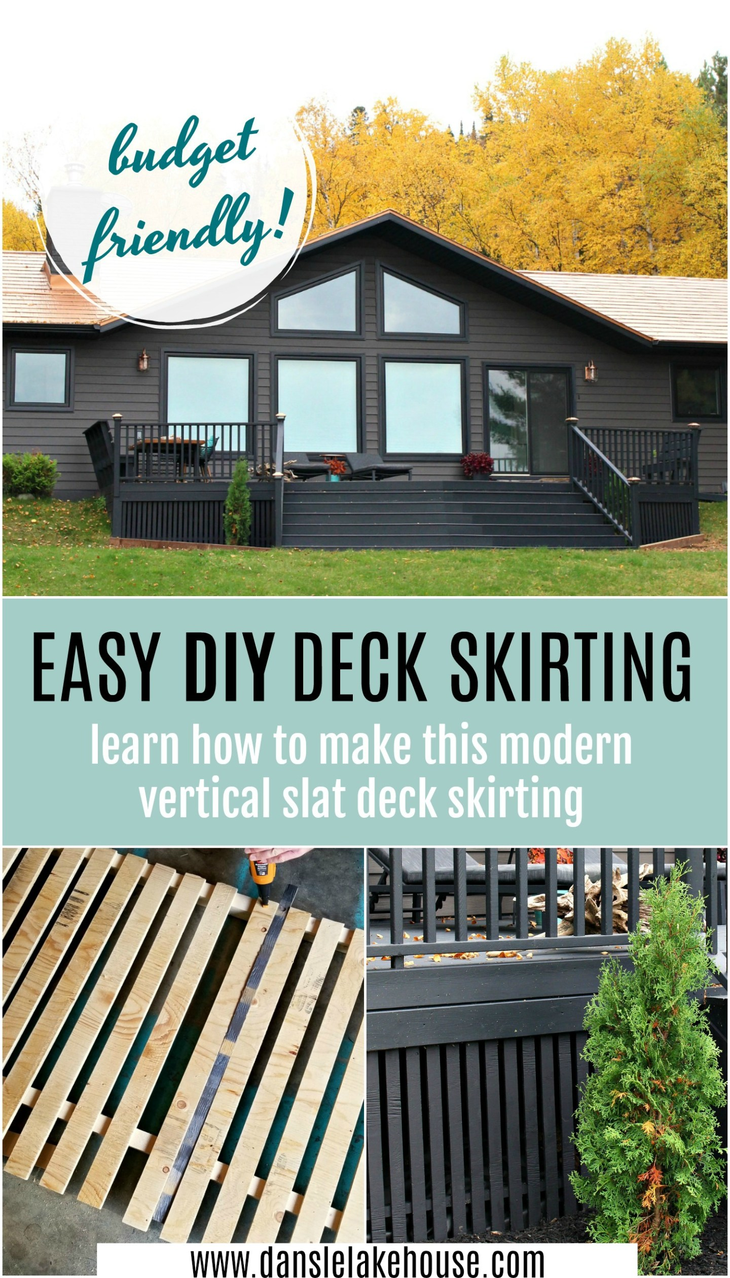 Easy DIY Deck Skirting Tutorial. Learn How to Make Modern Vertical Slat Deck Skirting