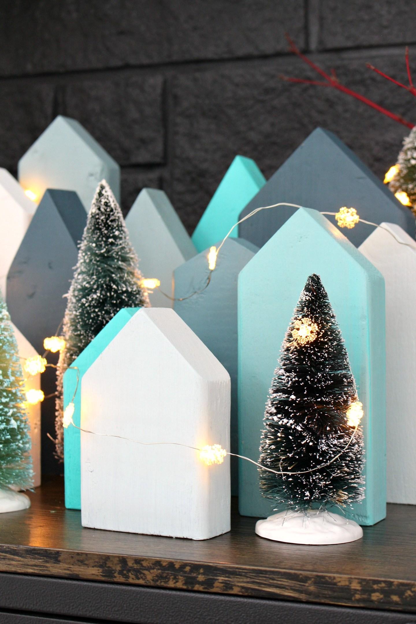 DIY Christmas Village Using Wood Scraps