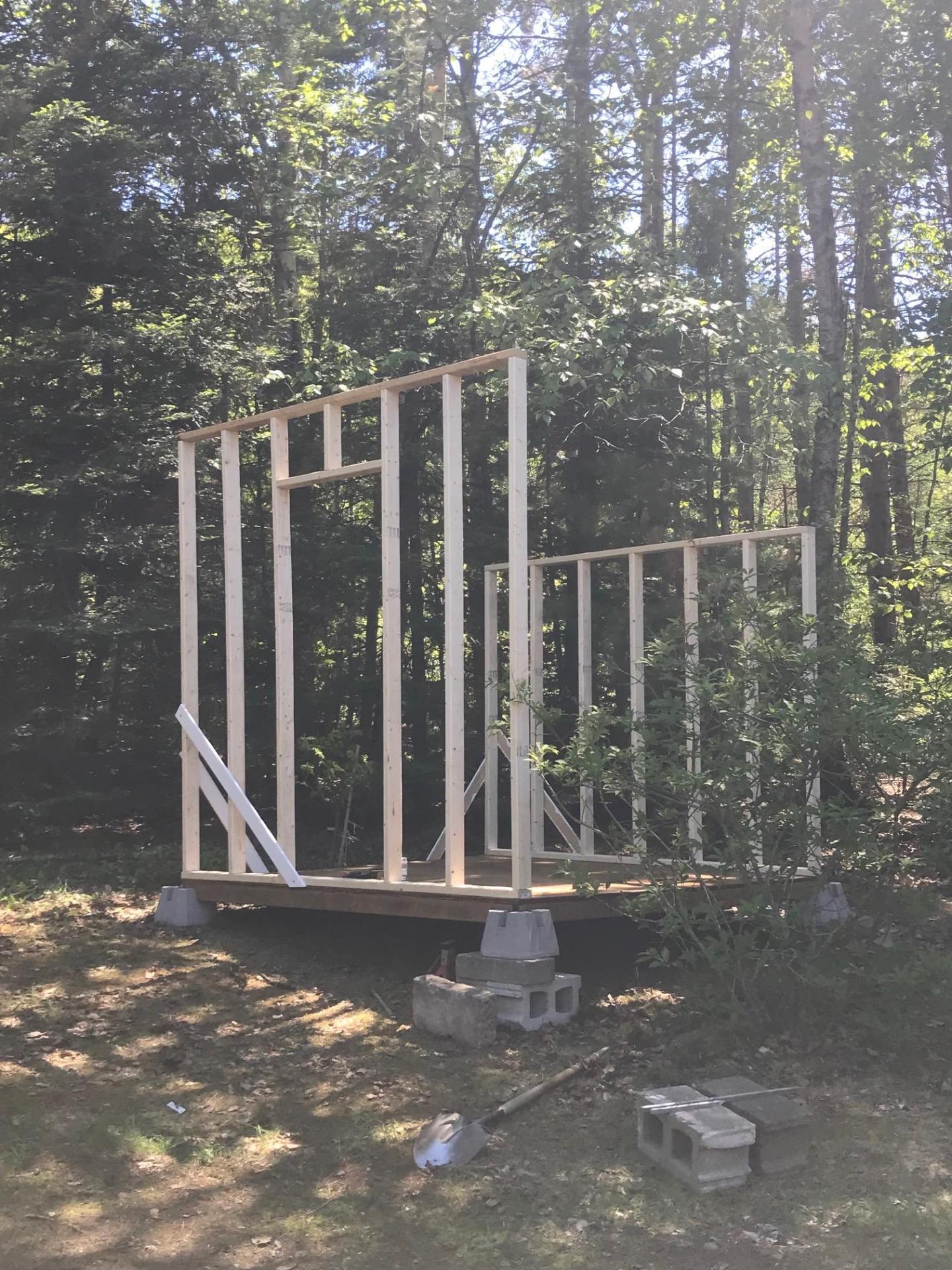 Raising Walls for Chicken Coop