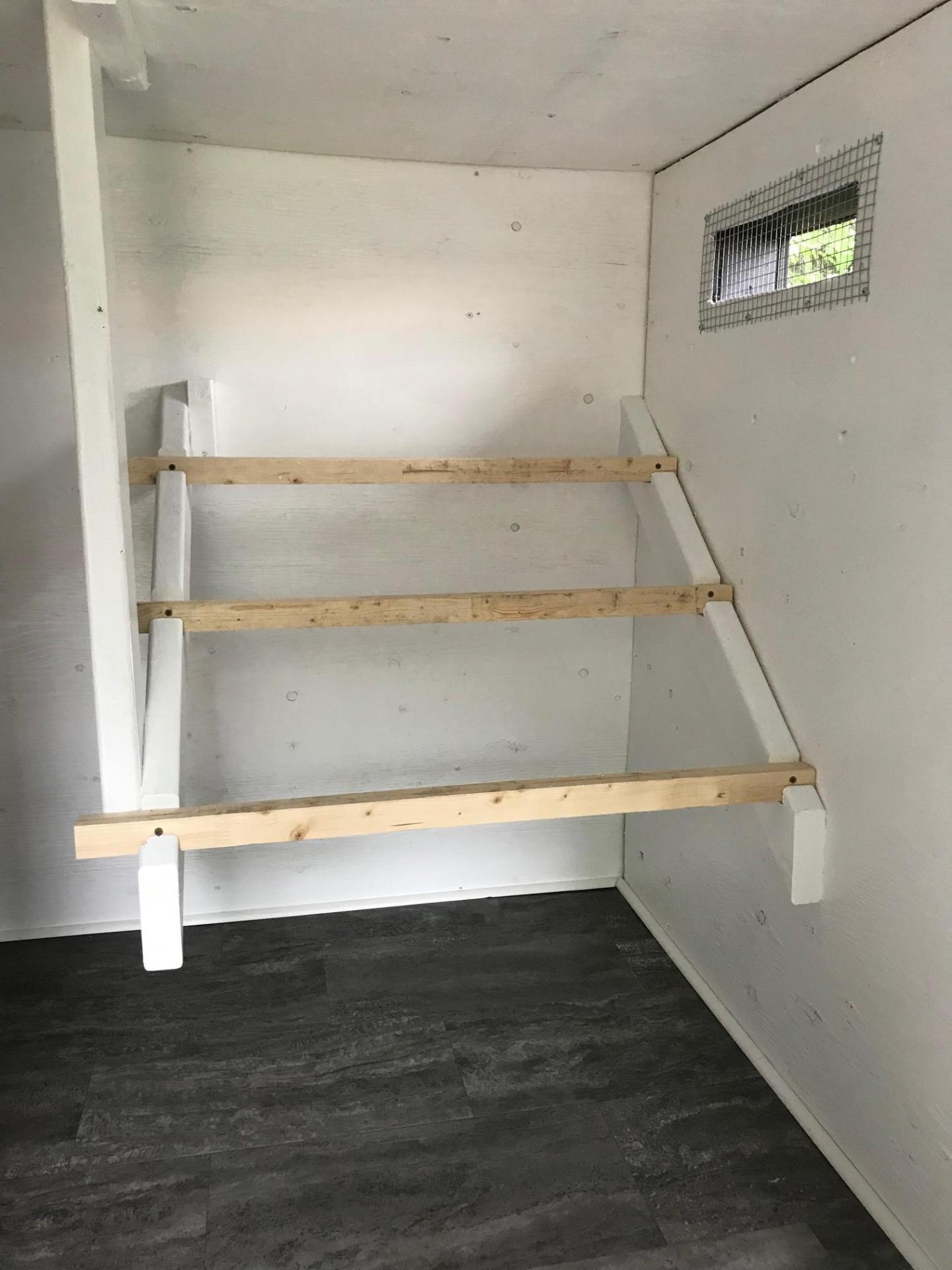 Easy Clean Coop Flooring Idea