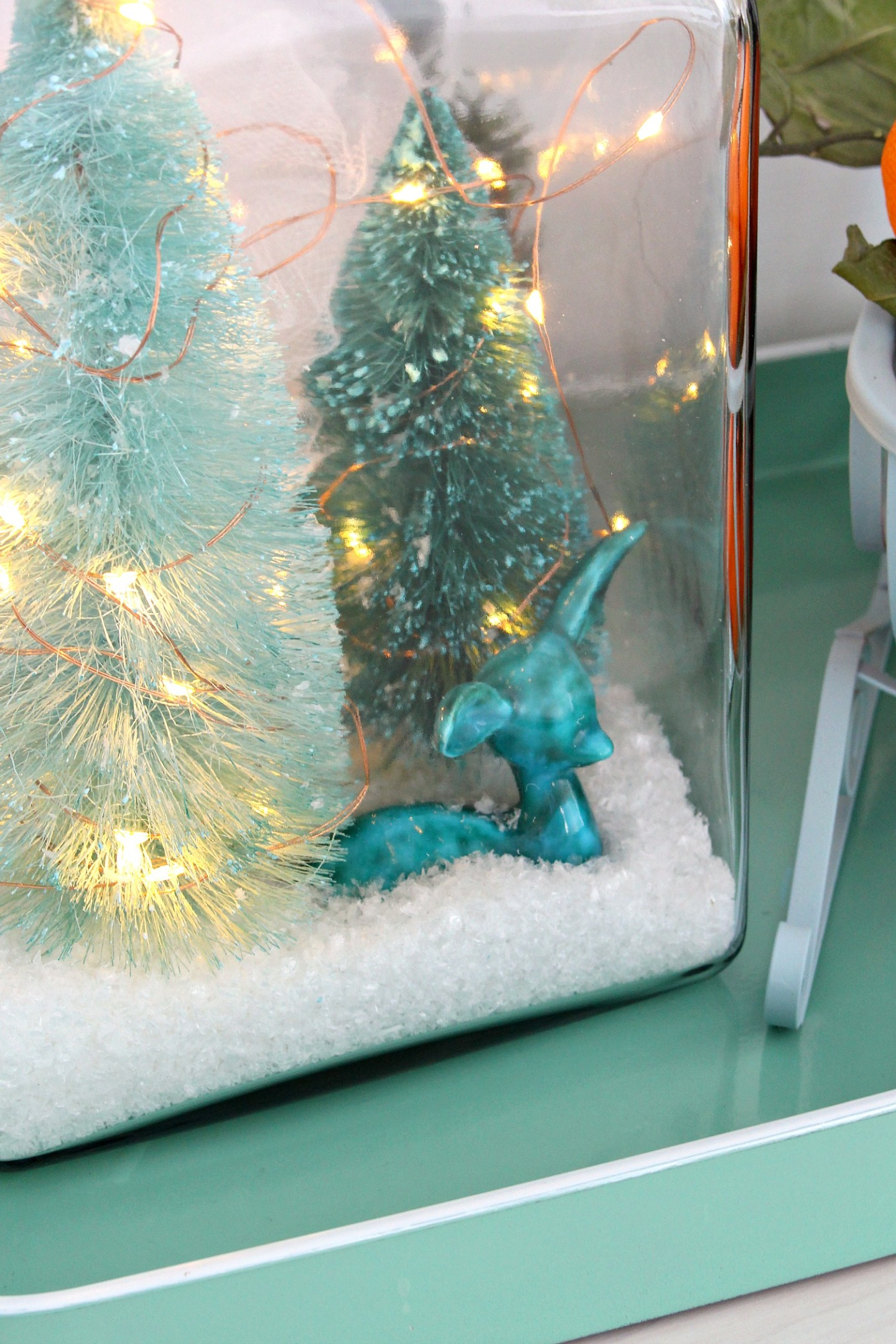 Glass Jar Winter Diorama DIY