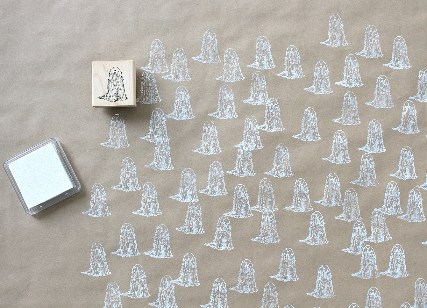 Eco-Friendly Stamped Wrapping Paper