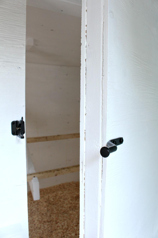 DIY Chicken Coop with Big Access Doors