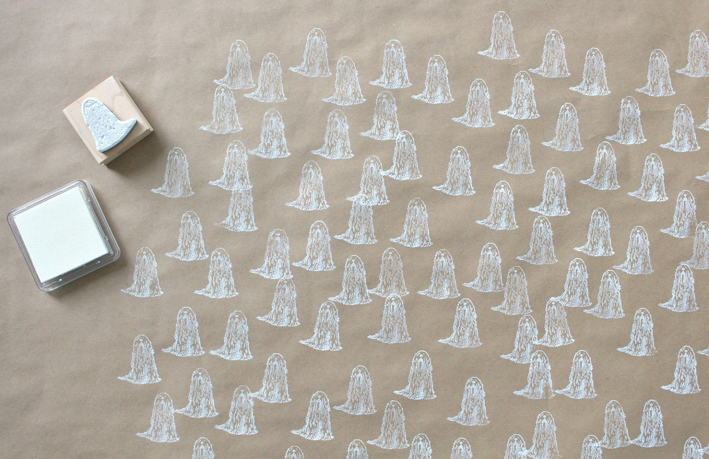 Dog Wrapping Paper DIY