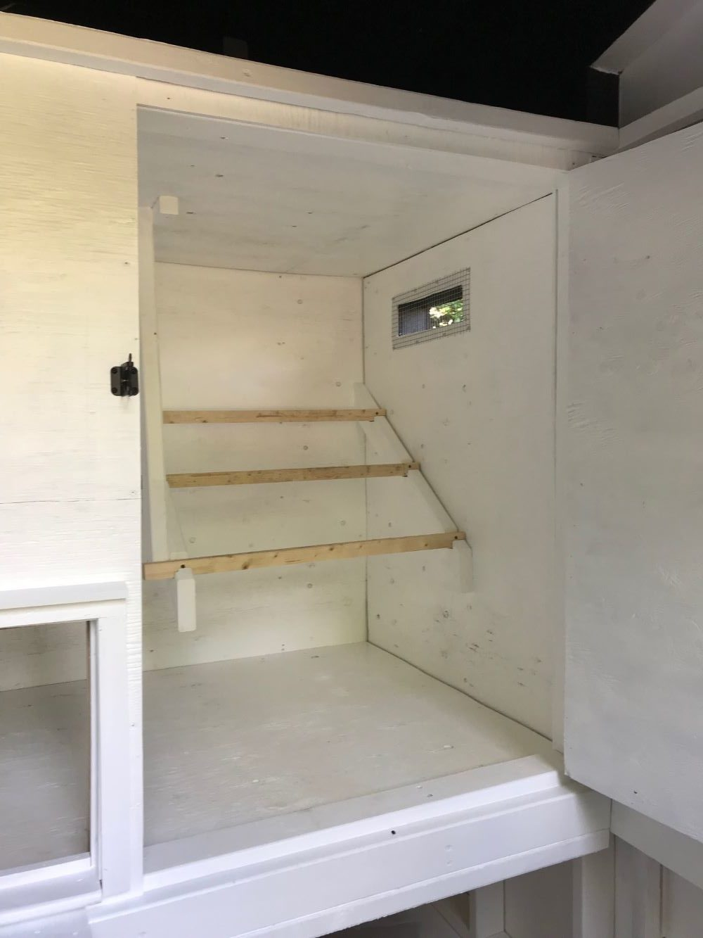 Inside a DIY Chicken Coop