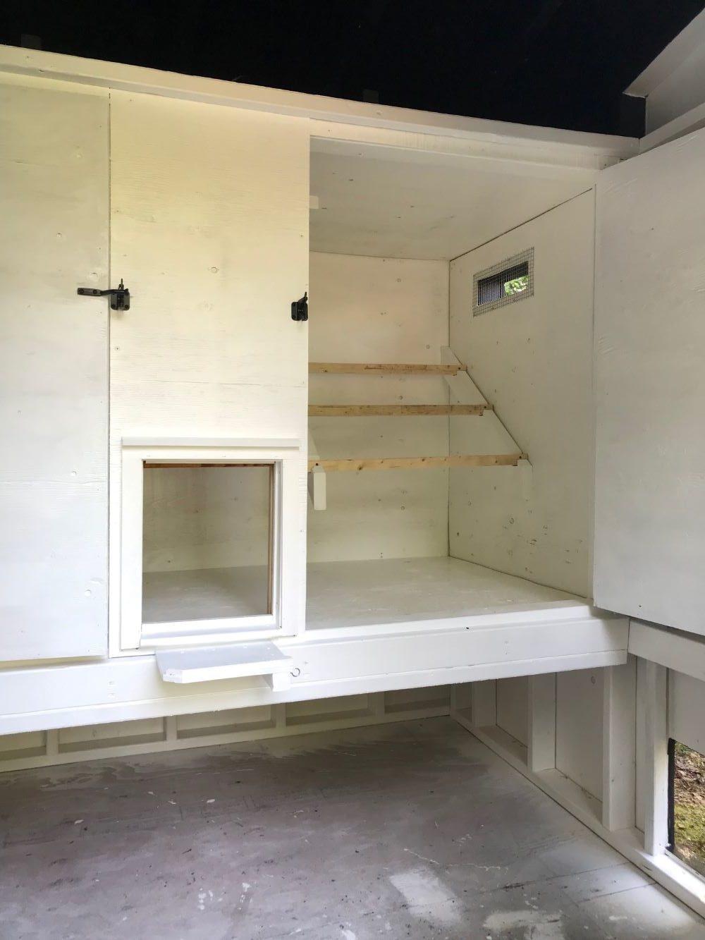 Modern Chicken Coop DIY Inside a Barn