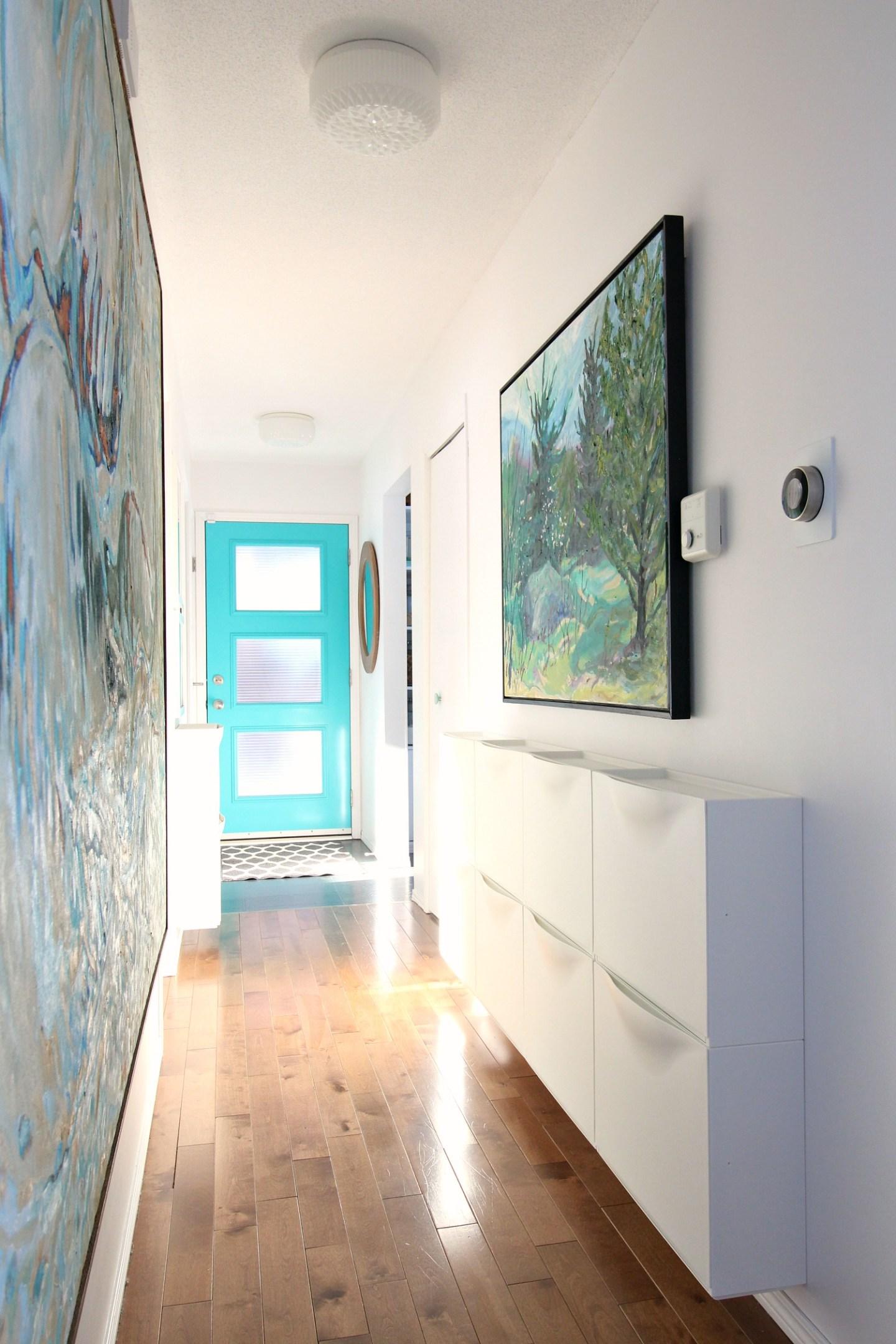 Narrow Entryway Storage Solution   IKEA TRONES