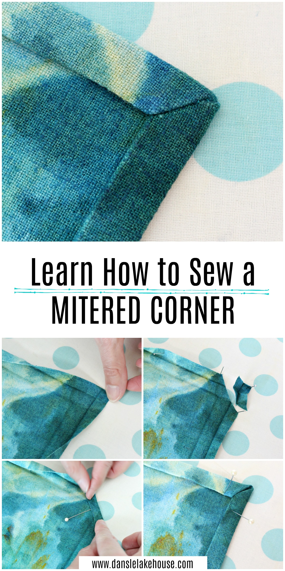 Learn how to sew a mitered corner