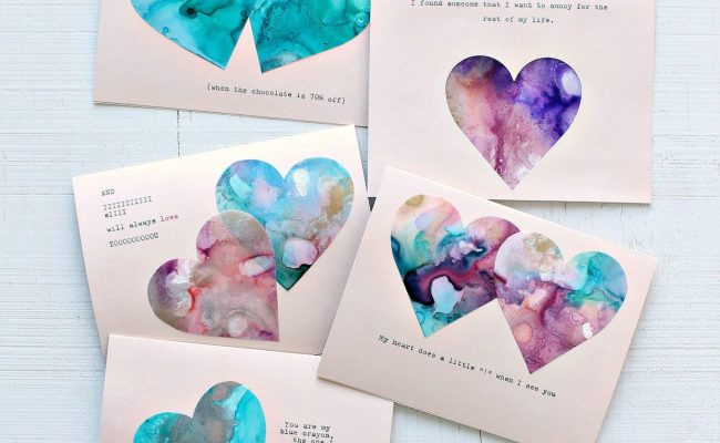 Easy Diy Valentine S Day Cards Dans Le Lakehouse