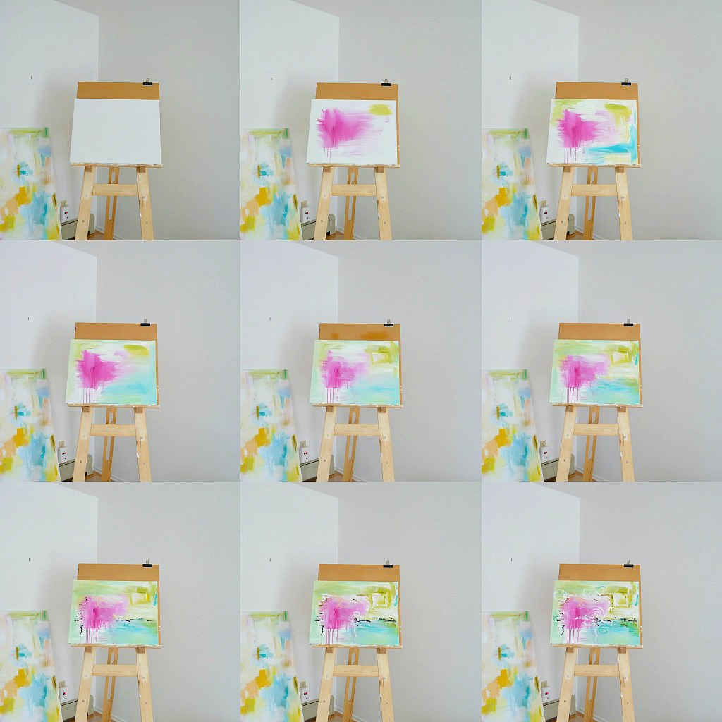 how to paint an abstract art project