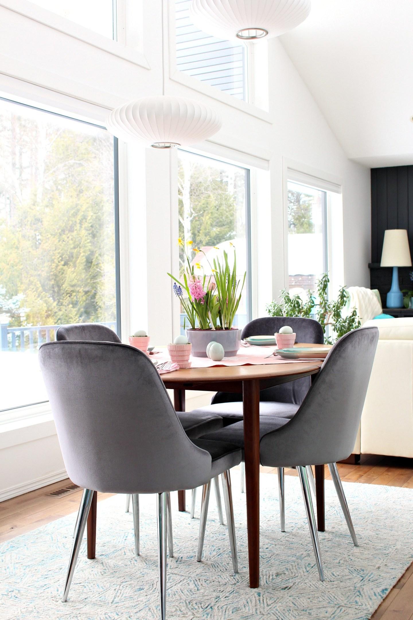 minimal spring tablescape