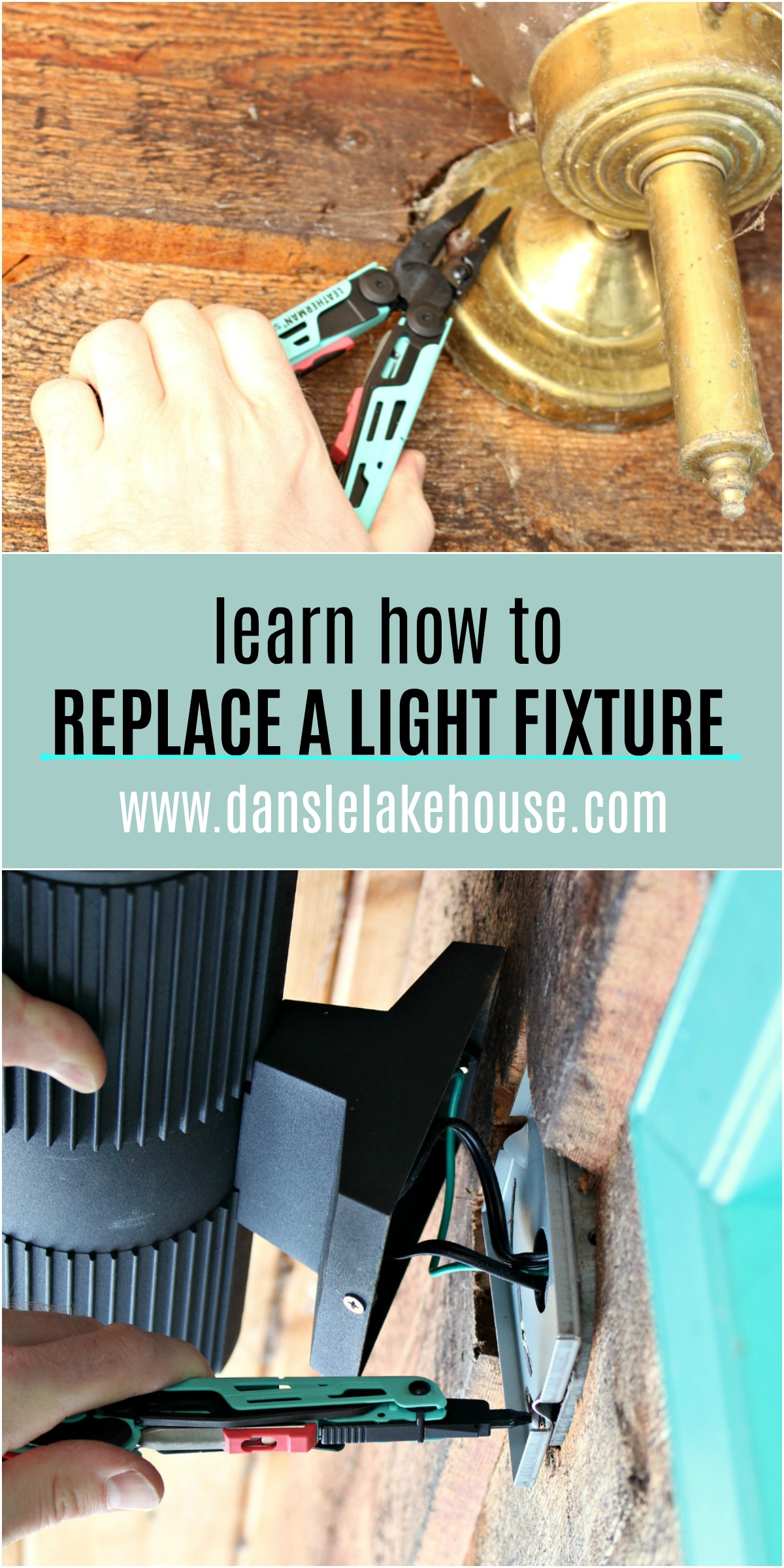Learn how to replace a light fixture