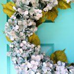 Easy Diy Hydrangea Wreath How To Make A Hydrangea Wreath For Summer Dans Le Lakehouse