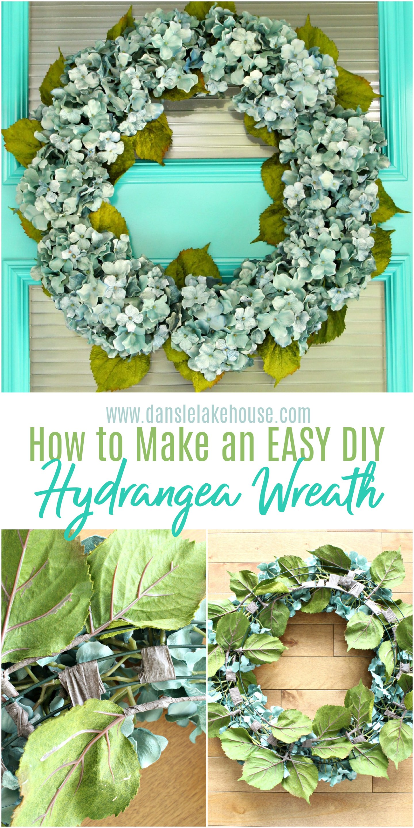 How to Make an Easy Hydrangea Wreath