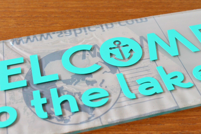 DIY Cricut Smart Vinyl Sign