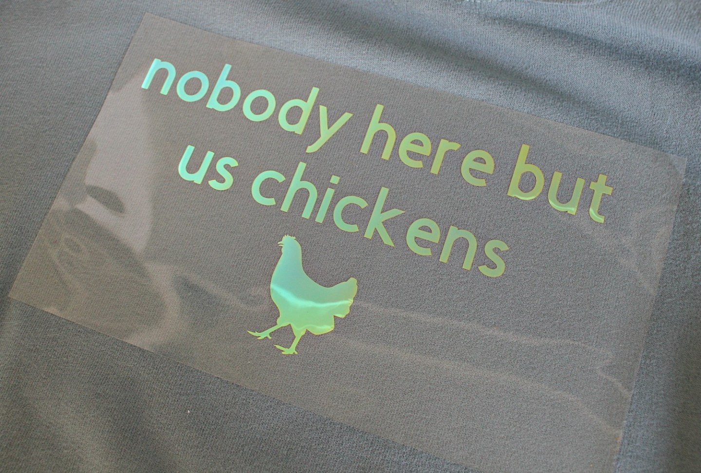 DIY Iron-On Vinyl Shirt for Chicken Lovers