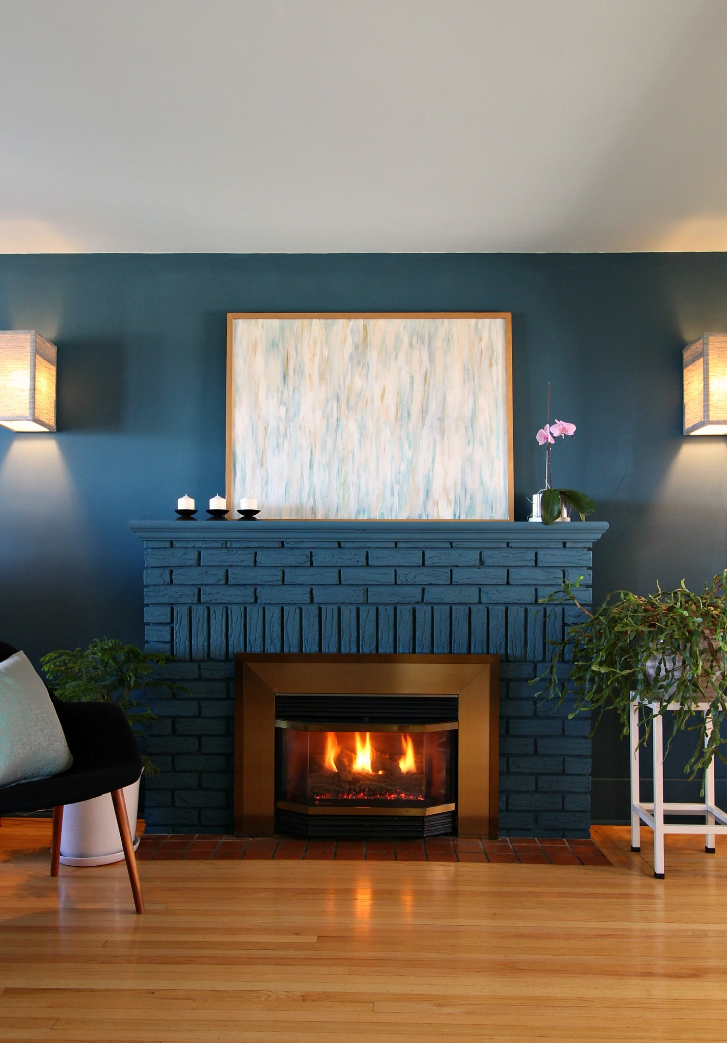 Idea for Winter Mantel Decor After Christmas