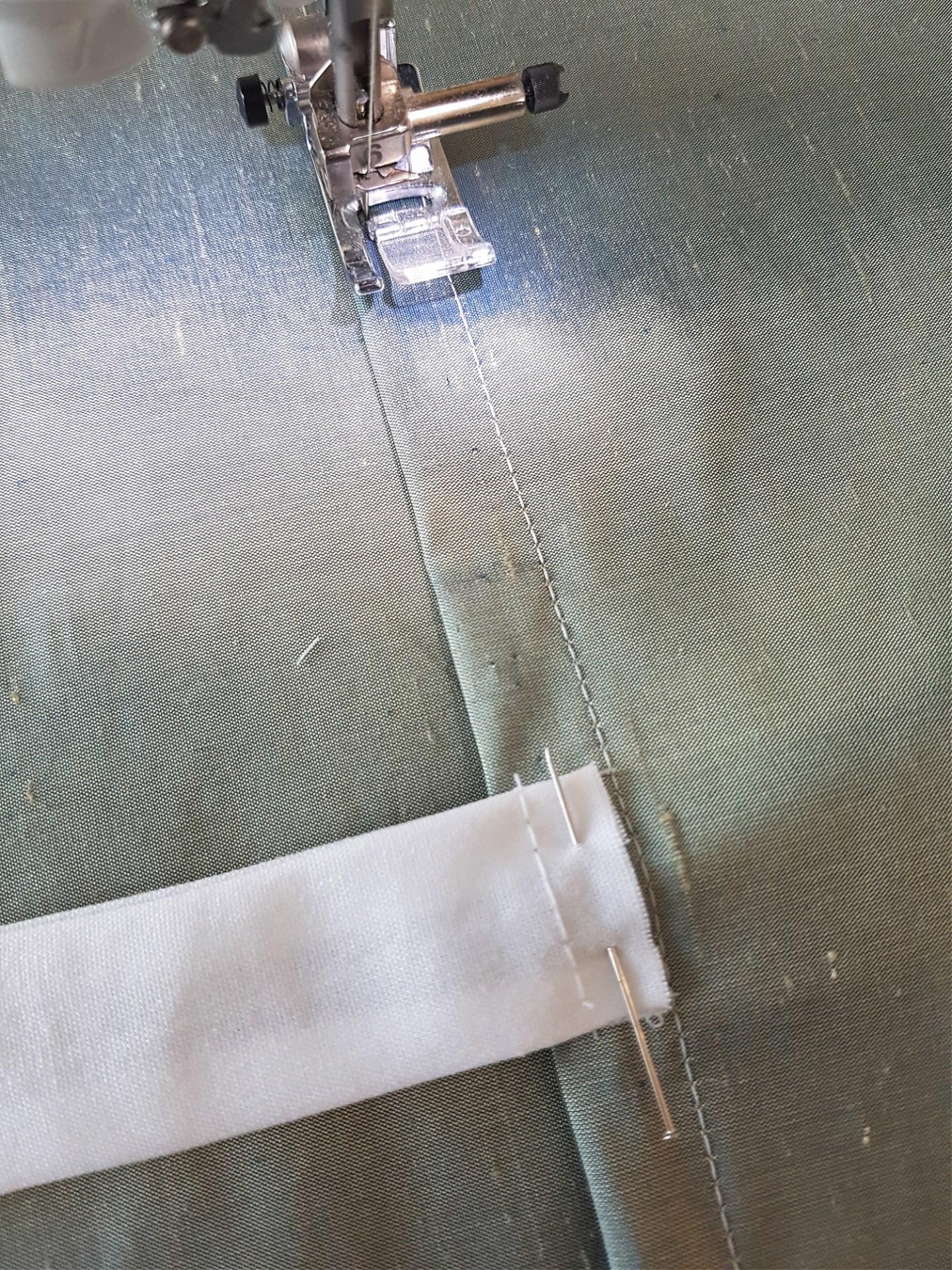Green silk fabric curtains