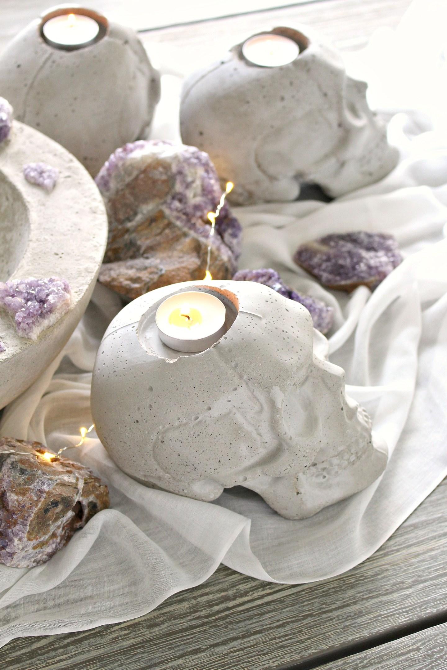 DIY Concrete Skull Project