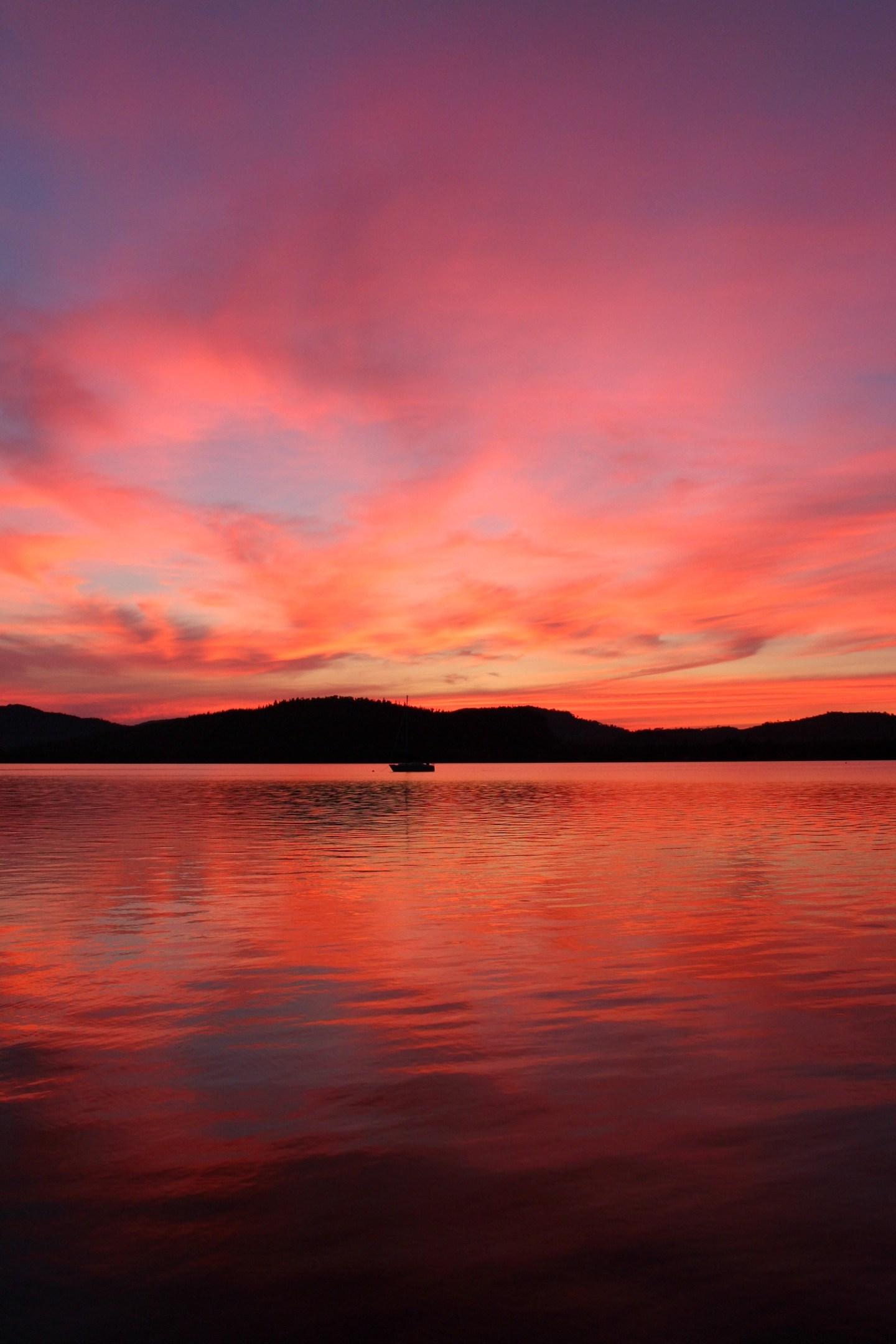 Sunset Sailboat Photo