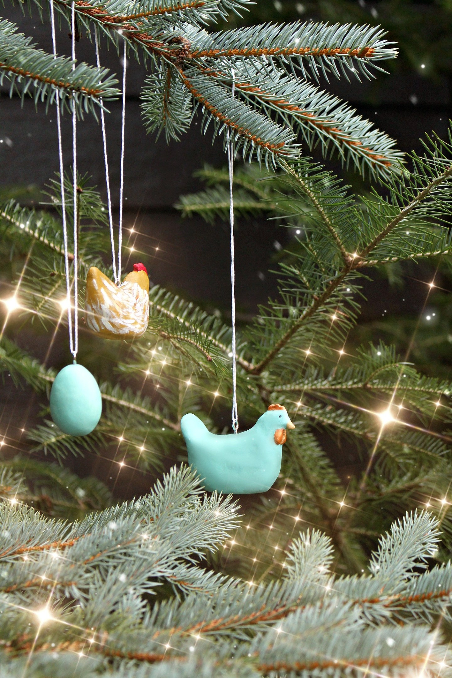 DIY Chicken Christmas Ornament