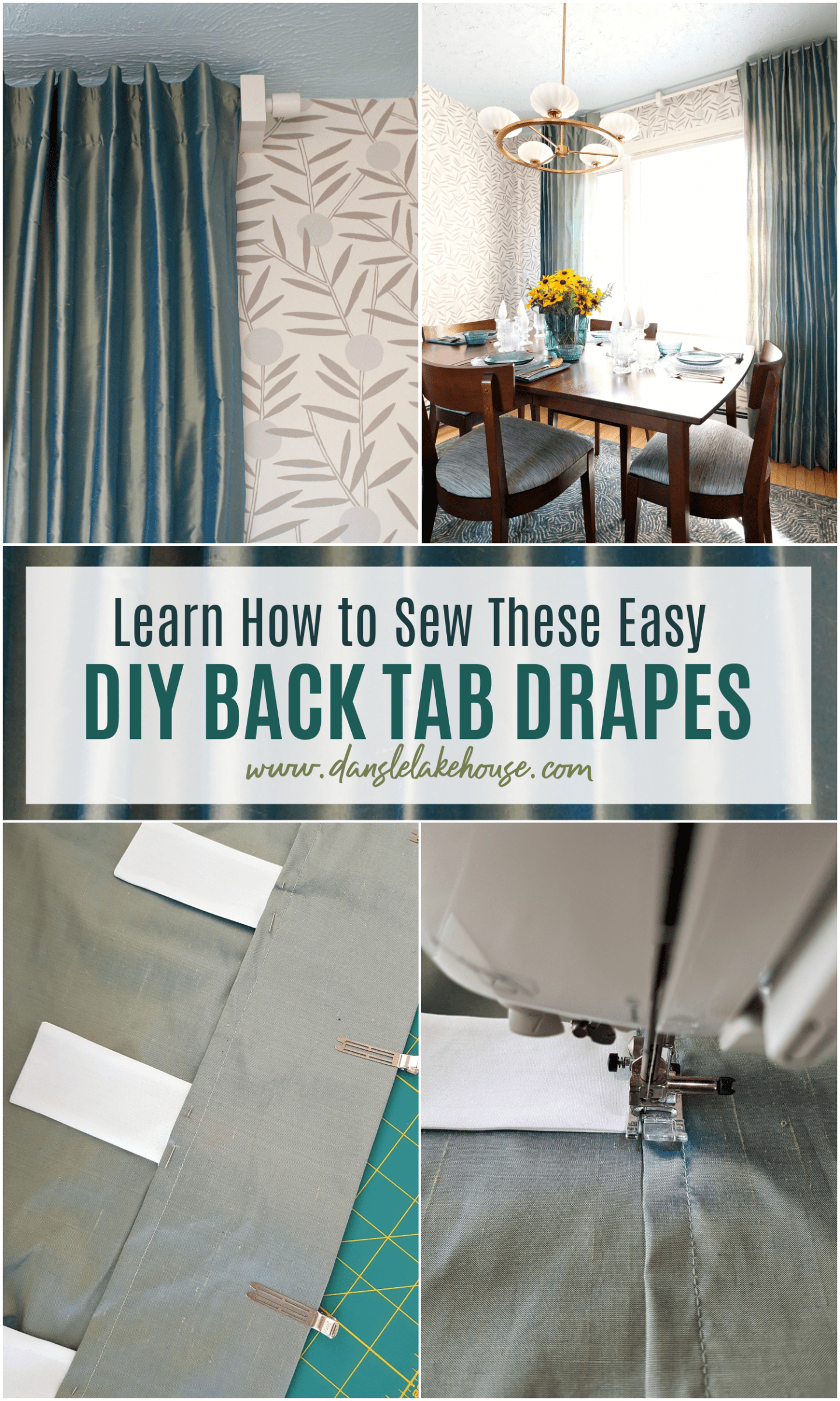 Learn How to Sew These Easy DIY Back Tab Drapes