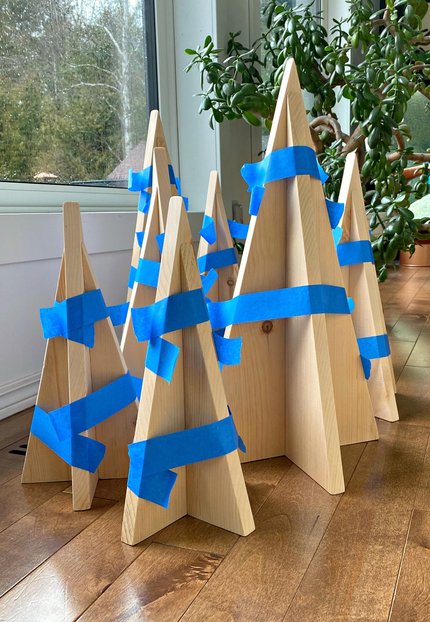 DIY Wood Christmas Trees - Make Your Own Wood Tabletop Trees!