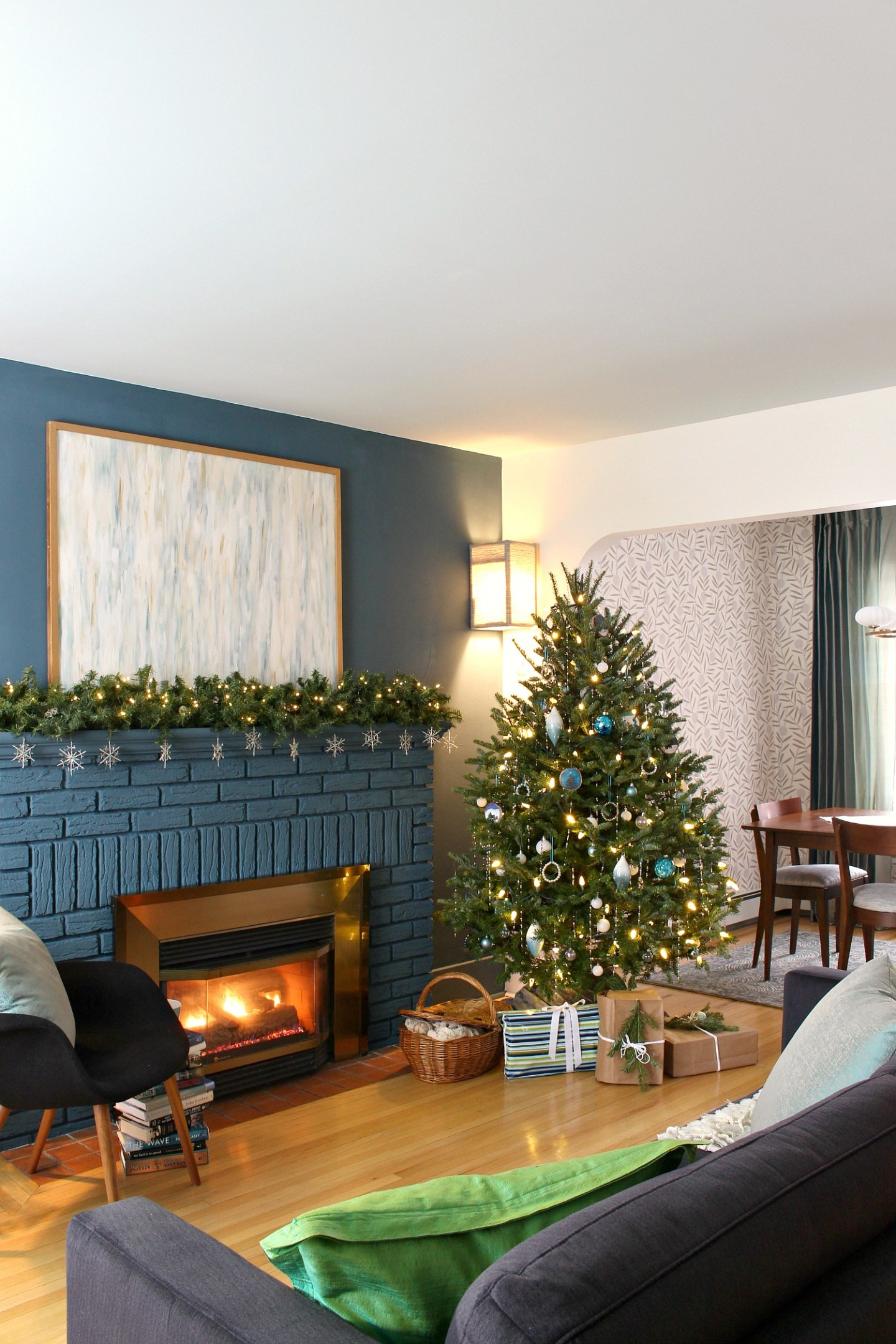 Teal and White Christmas Tree Theme Inspired by Lake Superior