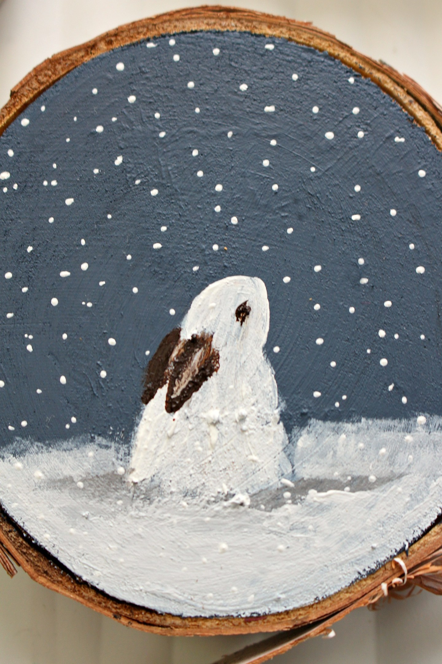 Snow Bunny Christmas Tree Ornament