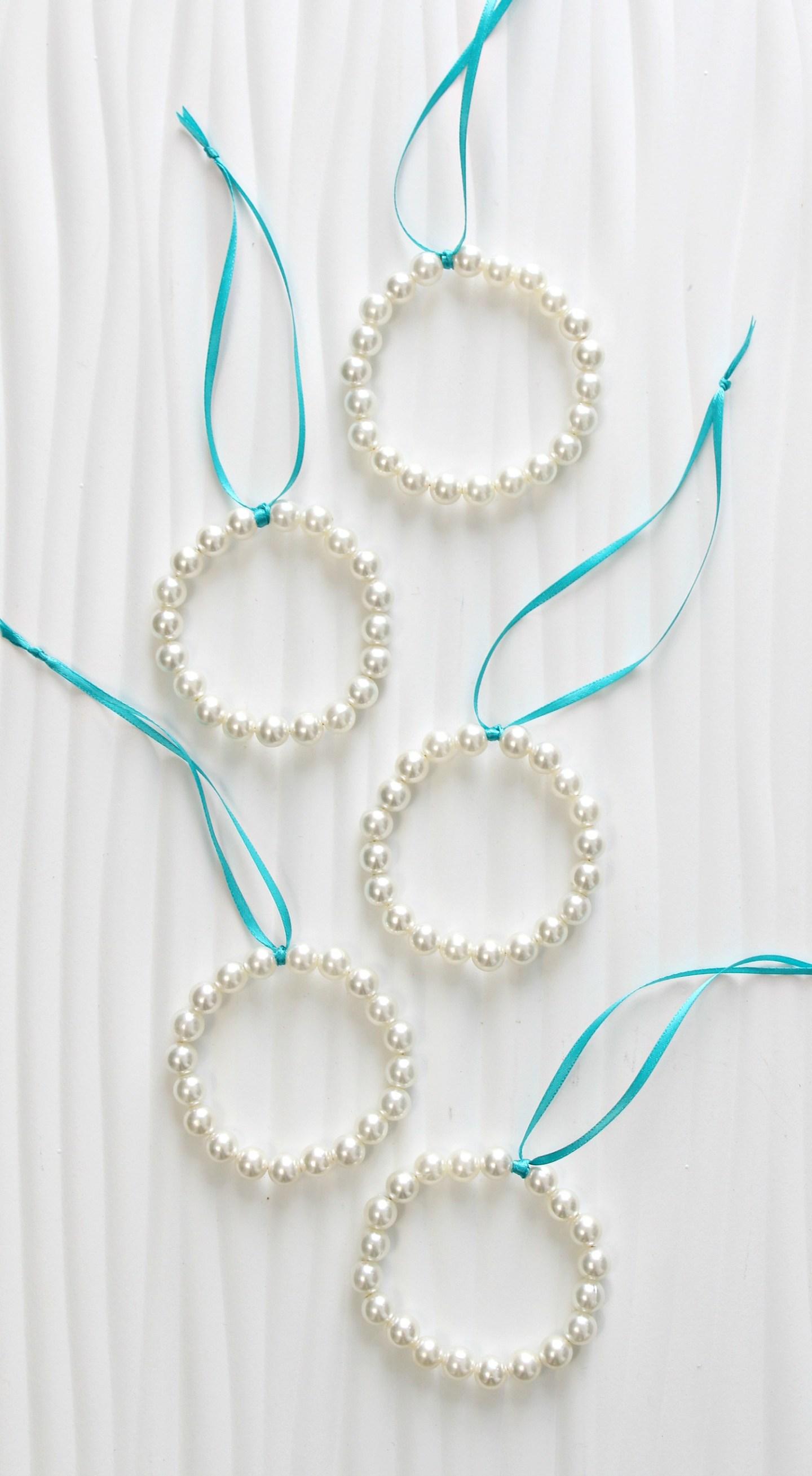 DIY Pearl Christmas Ornaments