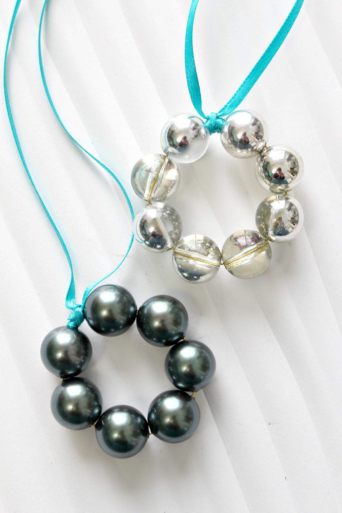 DIY Glass Bead Christmas Ornaments