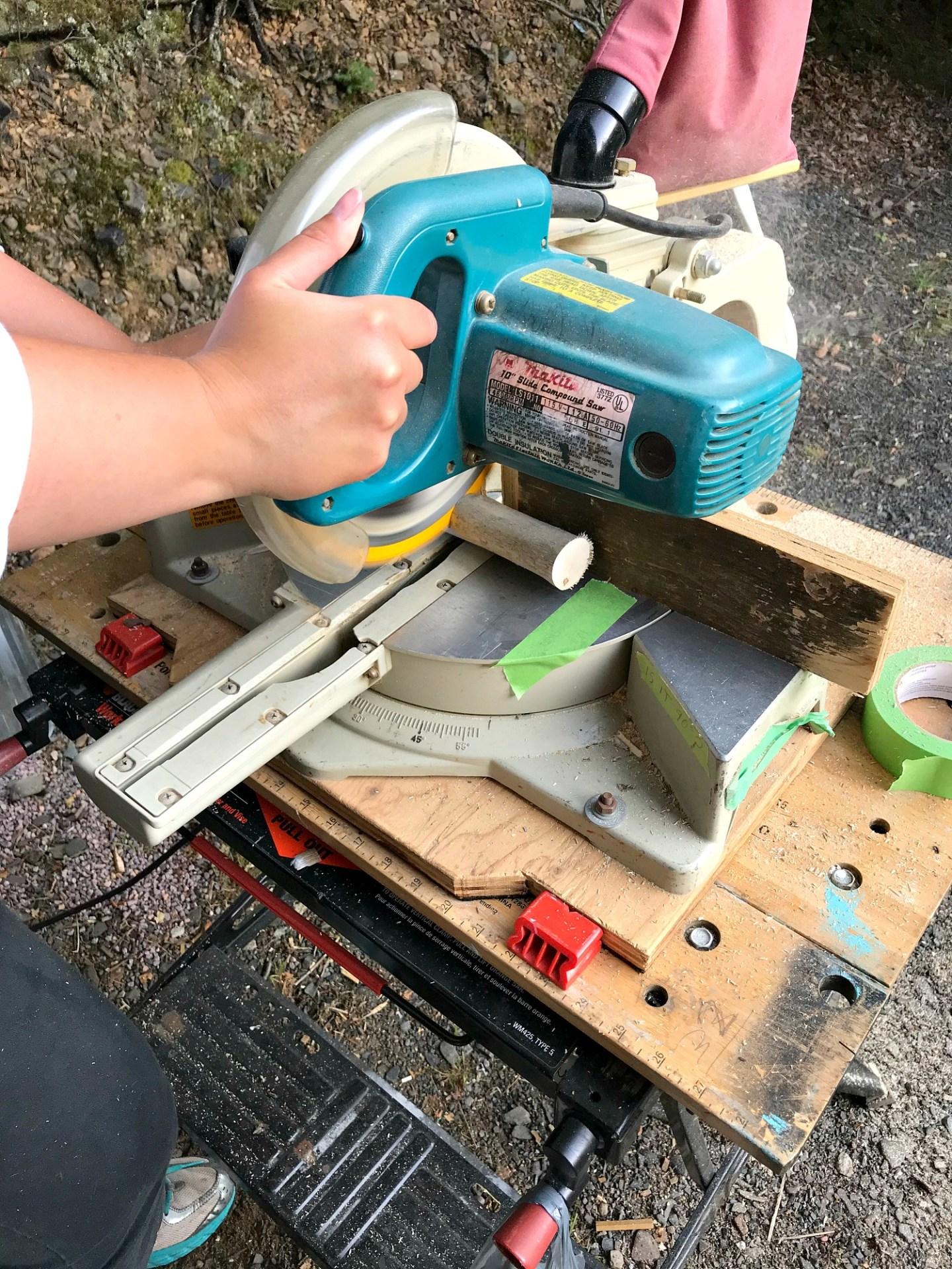 Cutting Driftwood