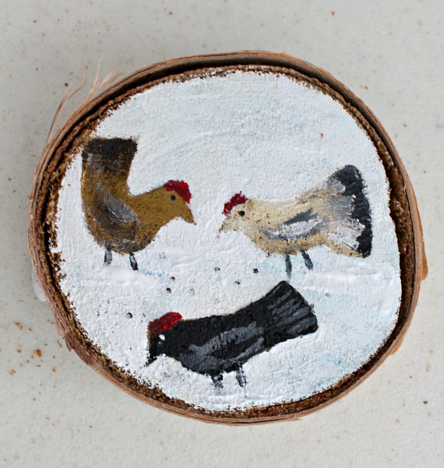 Homemade Chicken Ornament
