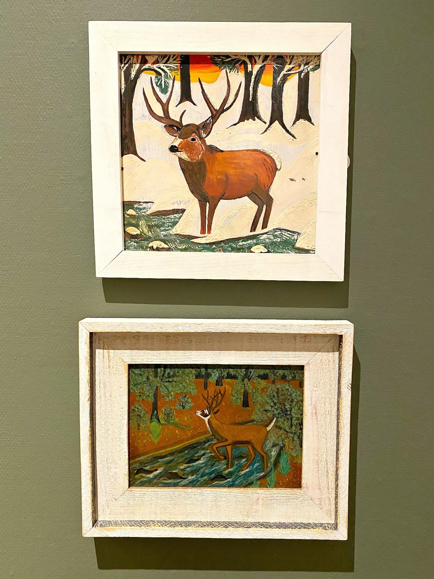 Maud Lewis Deer Paintings