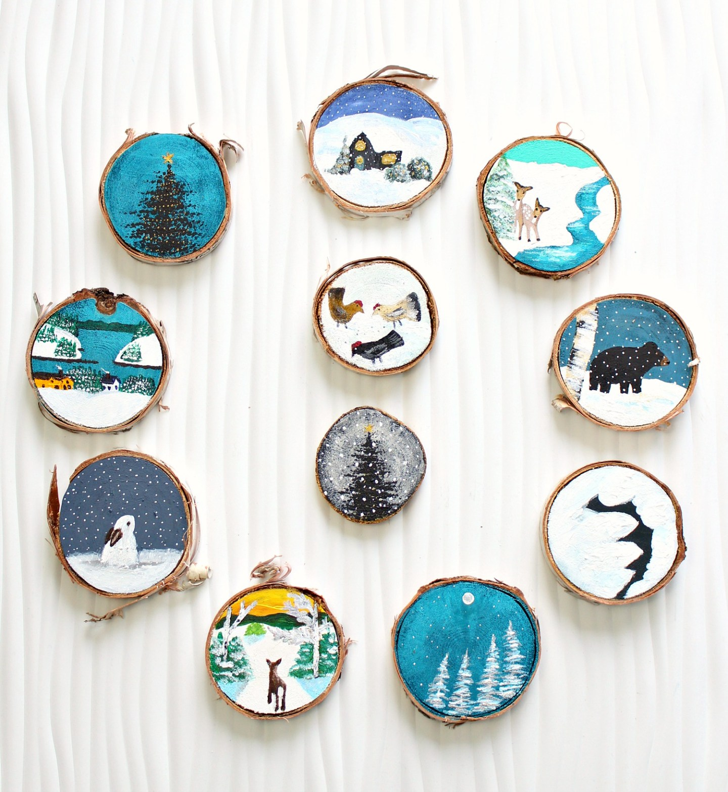 Woodland Themed DIY Christmas Tree Ornaments