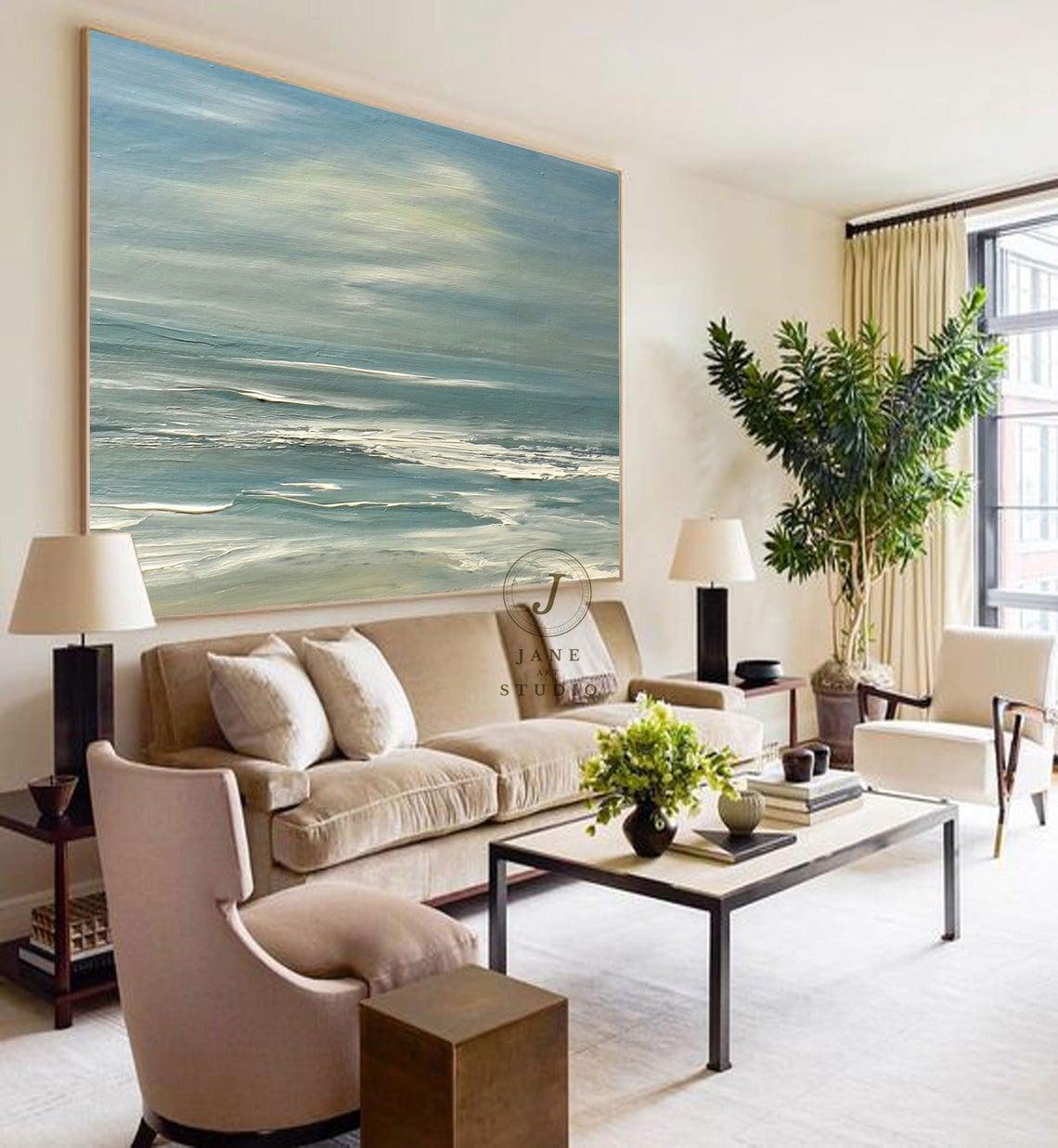 large coastal painting