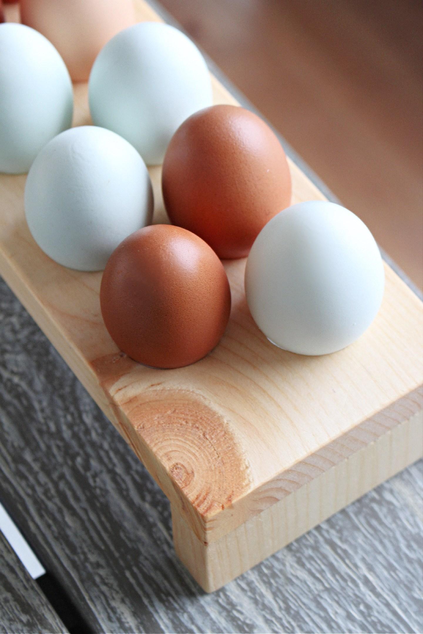 DIY wood egg holder tutorial