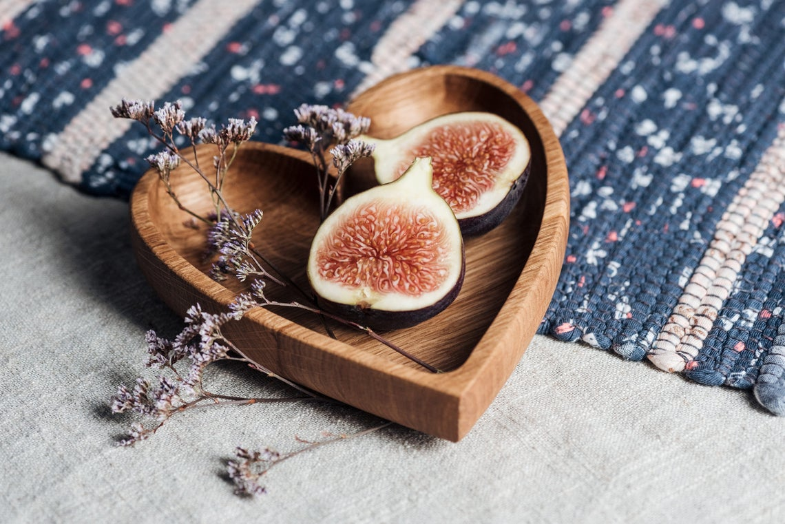 Heart Shaped Wooden Bowl