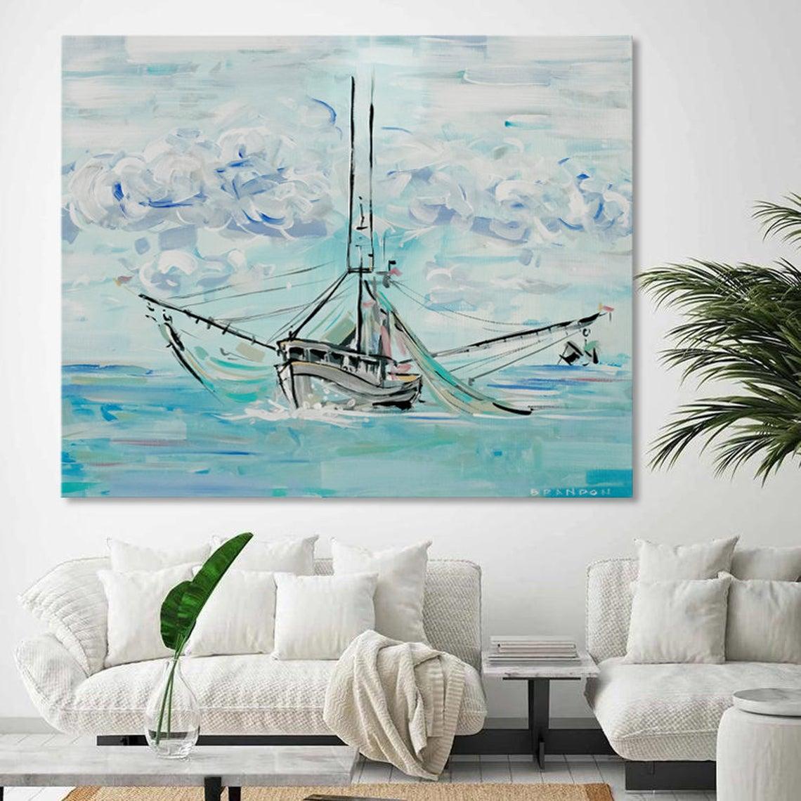 modern ship painting