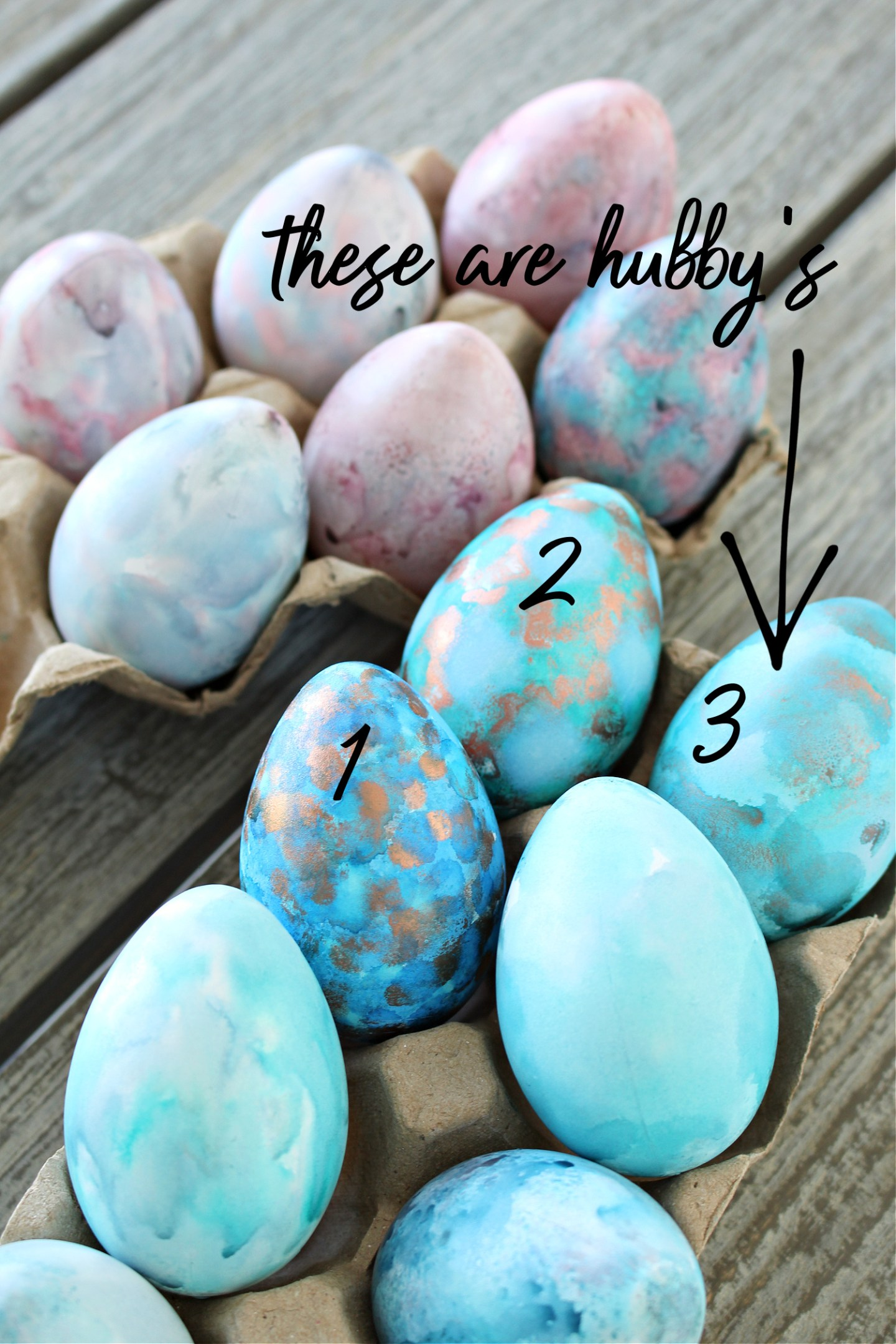 Pastel alcohol ink eggs