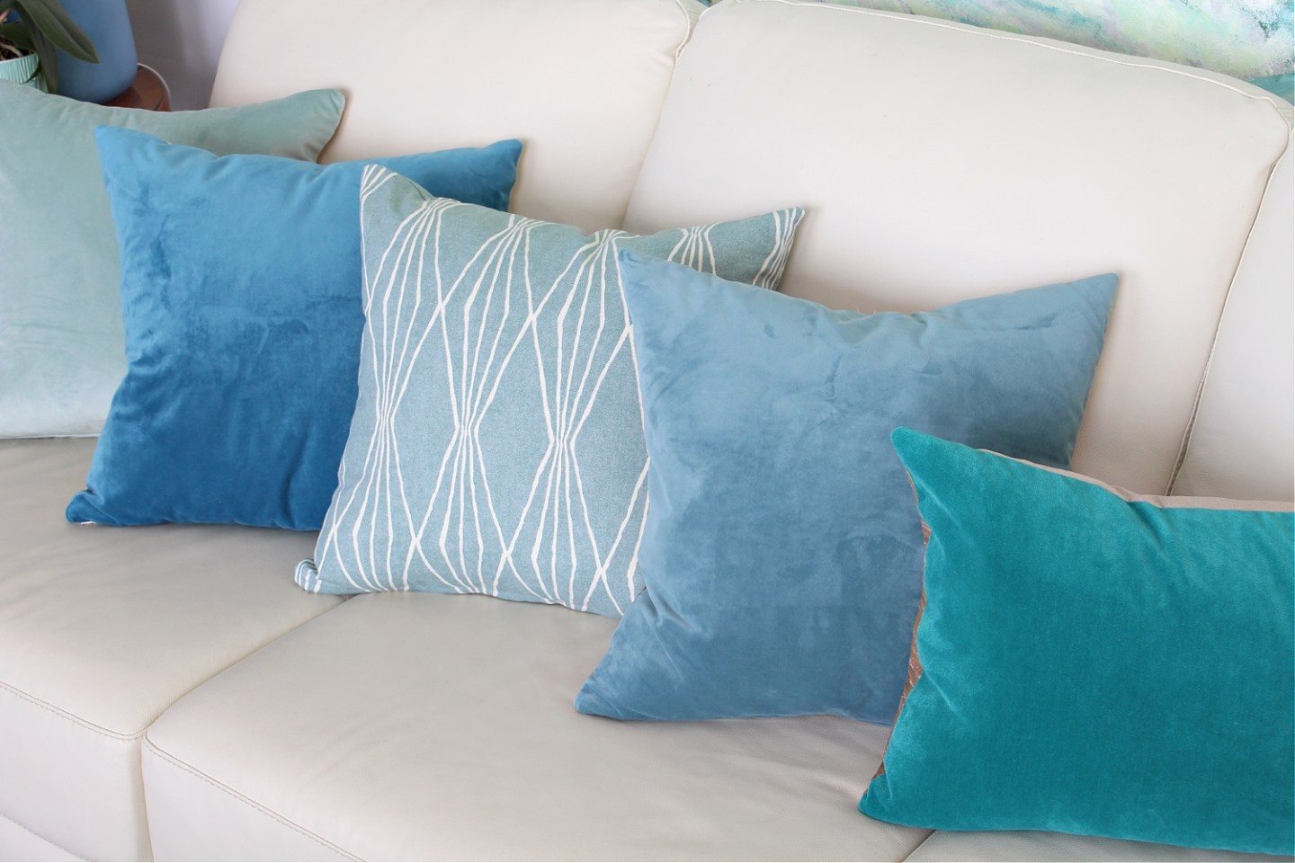 Mix of Aqua Throw Pillows