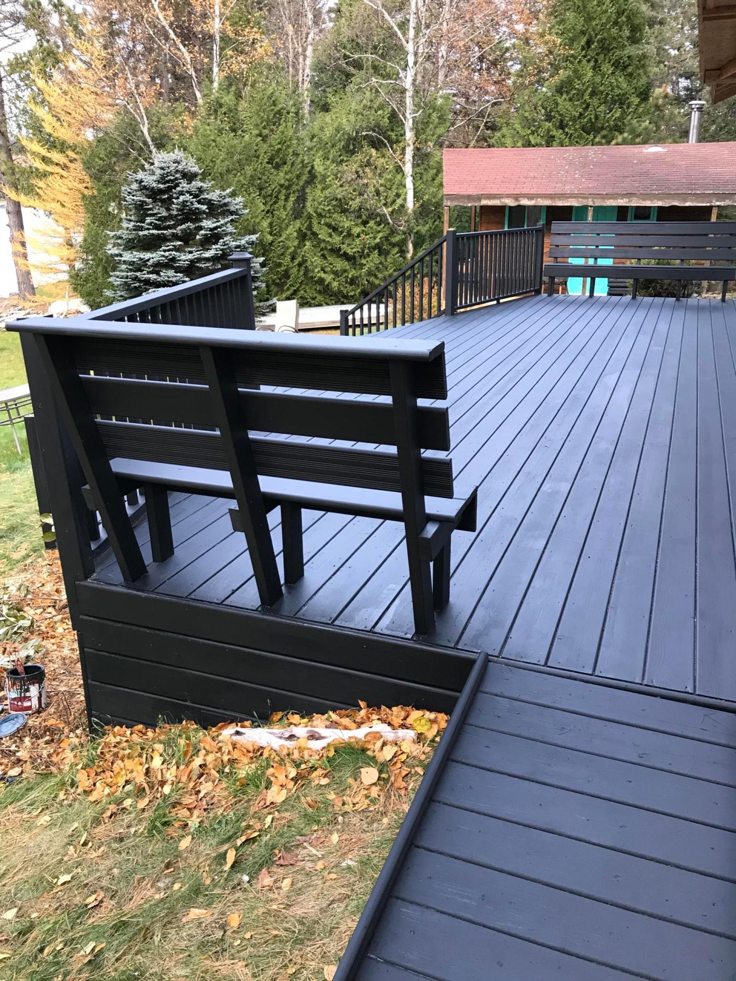 Black Deck Stain