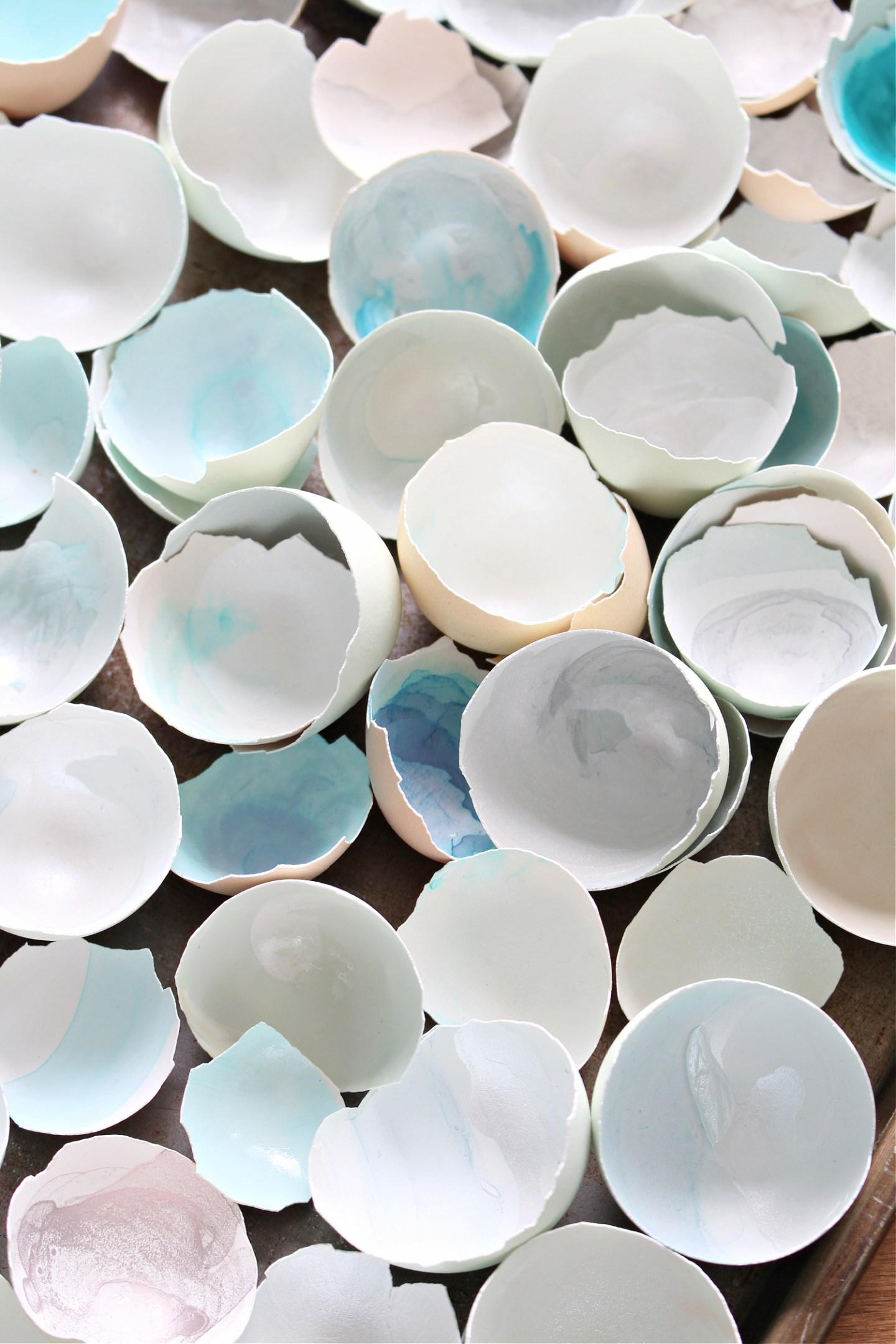 watercolor egg shells