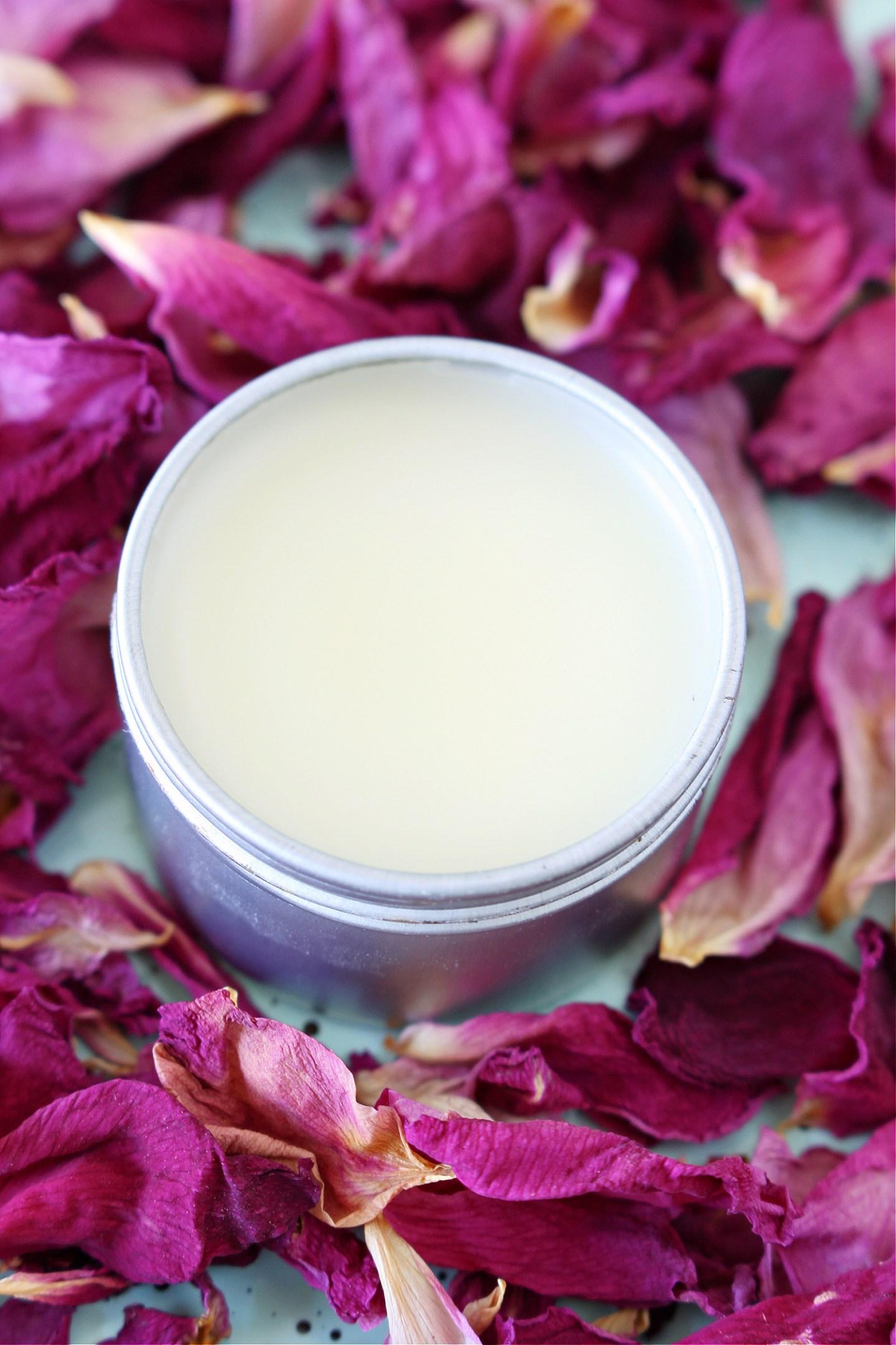 DIY Rose Petal Salve + DIY Rose Lip Balm (Rose Petal Infused Oil)