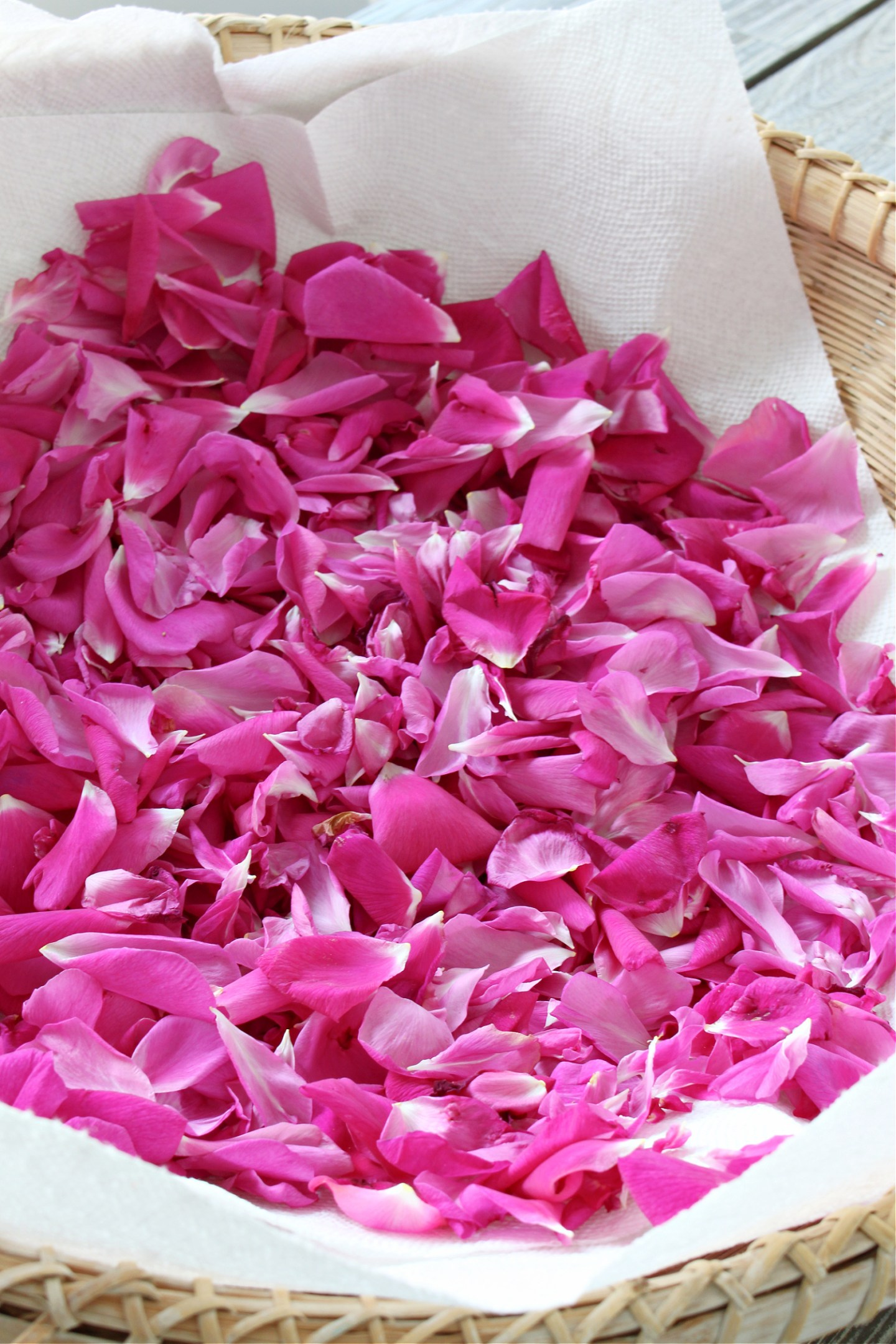 How to Dry Fresh Rose Petals