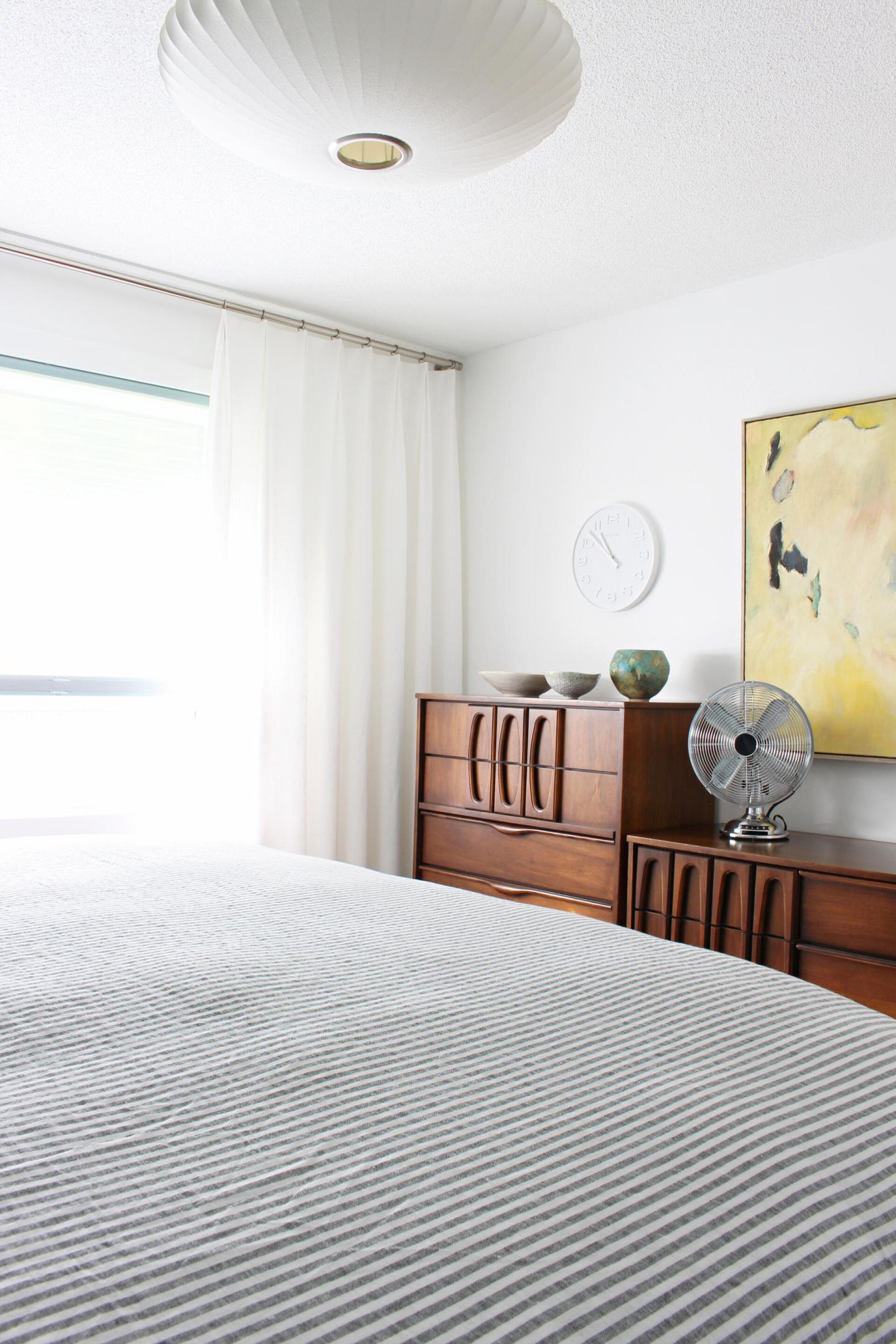White Linen Drapes DIY with Fabric from Tonic Living